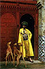 Gerome - An Arab and His Dogs - Art Print / Posters