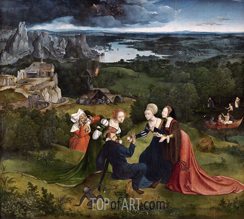 The Temptations of Saint Anthony the Abbot, c.1520/24 | Joachim Patinir | Painting Reproduction