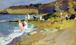 Sorolla y Bastida | Beach Scene, 1906 | Giclée Canvas Print