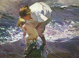 Sorolla y Bastida | Bathing on the Beach, 1908 | Giclée Canvas Print