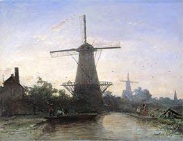 Jongkind | Mills at Rotterdam, 1857 | Giclée Canvas Print