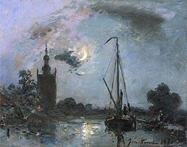 Jongkind | River Landscape at Overschie, 1871 | Giclée Canvas Print
