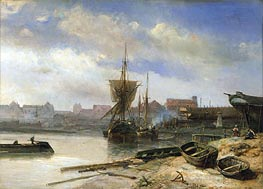 Jongkind | Shipyard, 1852 | Giclée Canvas Print