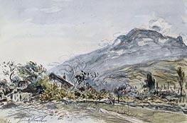 Jongkind | A Chalet in a Mountainous Landscape, 1882 | Giclée Paper Print