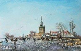 Jongkind | Les Patineurs a Overschie, 1867 | Giclée Canvas Print