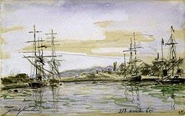 Jongkind | Harbor Scene, 1865 | Giclée Paper Print