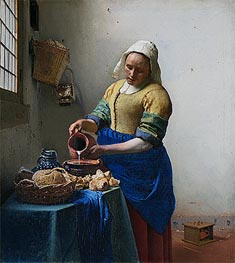 Vermeer | The Milkmaid (The Kitchen Maid), c.1658/60 | Giclée Canvas Print