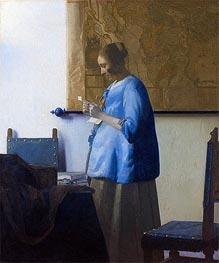 Vermeer | Woman Reading a Letter, c.1663/64 | Giclée Canvas Print
