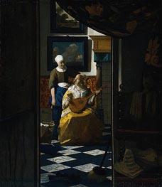 Vermeer | The Love Letter, c.1669/70 | Giclée Canvas Print