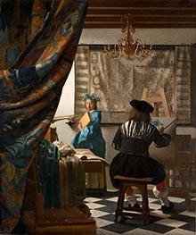 Vermeer | The Art of Painting (The Artist's Studio), c.1666/67 | Giclée Canvas Print
