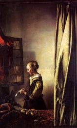Vermeer | Girl Reading a Letter at an Open Window | Giclée Canvas Print