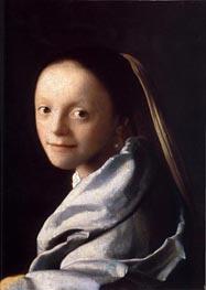 Vermeer | Portrait of a Young Woman, c.1667/68 | Giclée Canvas Print