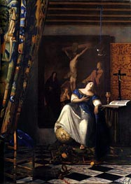 Vermeer | Allegory of Faith, c.1671/74 | Giclée Canvas Print