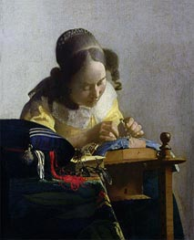 Vermeer | The Lacemaker, c.1669/70 | Giclée Canvas Print