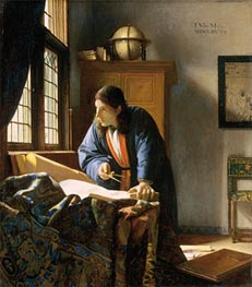 Vermeer | The Geographer, c.1668/69 | Giclée Canvas Print