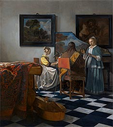 Vermeer | The Concert | Giclée Canvas Print