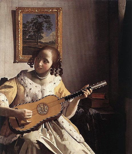 The Guitar Player, c.1670 | Vermeer | Painting Reproduction