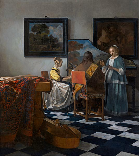 The Concert, c.1665/66 | Vermeer | Painting Reproduction