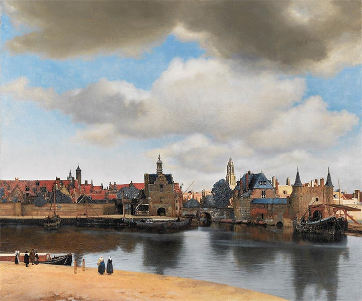 View of Delft, c.1660/61   Vermeer   Painting Reproduction