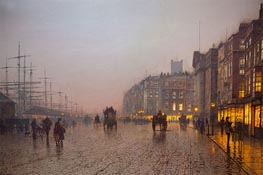 Liverpool from Wapping, 1885 by Grimshaw | Giclée Canvas Print