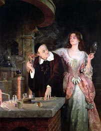 John Collier | The Laboratory, 1895 | Giclée Canvas Print