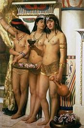 John Collier | Pharaoh's Handmaidens, Undated | Giclée Canvas Print