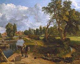 Constable | Flatford Mill (Scene on a Navigable River), c.1816/17 | Giclée Canvas Print