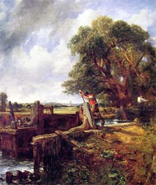 Constable | A Boat Passing a Lock, c.1823/25 | Giclée Canvas Print