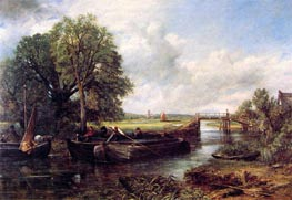 Constable | A View on the Stour near Dedham, 1822 | Giclée Canvas Print