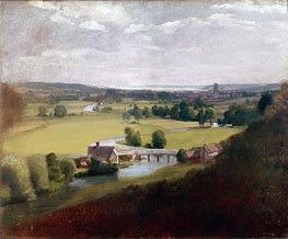 Constable | Stour Valley with Dedham in the Distance | Giclée Canvas Print