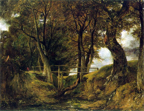 Helmingham Dell, c.1825/26   Constable   Painting Reproduction
