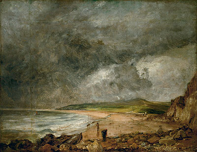 The Bay of Weymouth before a Thunderstorm, c.1818/19 | Constable | Painting Reproduction