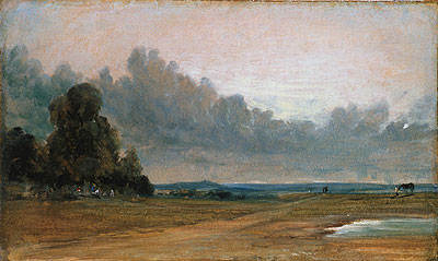 A View on Hampstead Heath with Harrow in the Distance, 1822 | Constable | Painting Reproduction