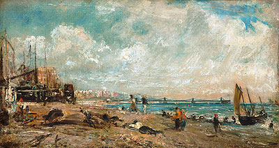 The Marine Parade and Chain Pier, Brighton (Sketch), a.1826 | Constable | Painting Reproduction