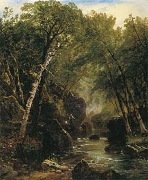 John Frederick Kensett | Trout Fisherman, 1852 | Giclée Canvas Print