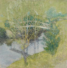 John Henry Twachtman | The White Bridge, c.1895 | Giclée Canvas Print