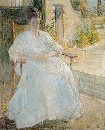 Figure in Sunlight (Artist's Wife), c.1890/00 by John Henry Twachtman | Giclée Canvas Print