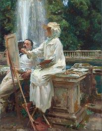 Sargent | The Fountain, Villa Torlonia, Frascati, Italy | Giclée Canvas Print