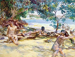 The Bathers, undated by Sargent   Giclée Paper Print