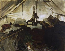Sargent | Inside a Tent in the Canadian Rockies | Giclée Canvas Print