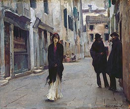 Sargent | Street in Venice, 1882 | Giclée Canvas Print