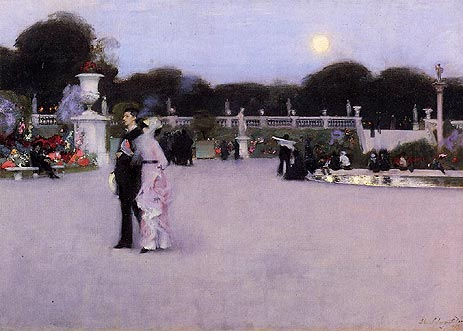 In the Luxembourg Gardens, 1879   Sargent   Painting Reproduction