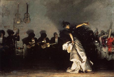 El Jaleo, 1882 | Sargent | Painting Reproduction
