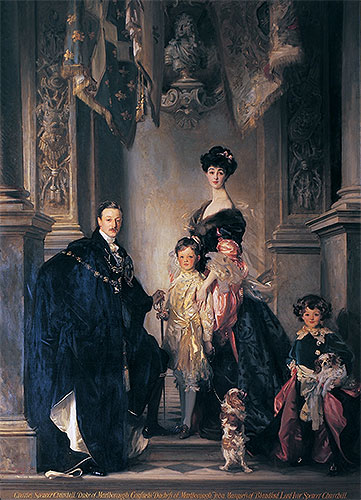 Sargent | The 9th Duke and Duchess of Marlborough and their Two Sons, 1905 | Giclée Canvas Print