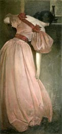 John White Alexander | Portrait Study in Pink (The Pink Gown), 1896 | Giclée Canvas Print