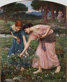 Waterhouse | Gather ye Rosebuds while ye may | Giclée Canvas Print