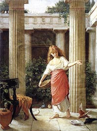 Waterhouse | In the Peristyle, 1874 | Giclée Canvas Print