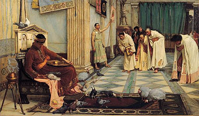 The Favourites of the Emperor Honorius, c.1883 | Waterhouse | Painting Reproduction