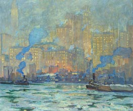 Jonas Lie | Afterglow, c.1913 | Giclée Canvas Print