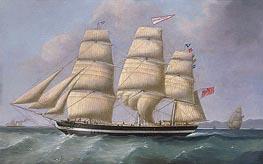 Joseph Heard | The Three-Masted Merchantman Eleanor Dixon, undated | Giclée Canvas Print